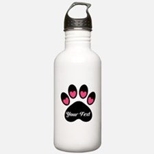 Personalizable Paw Print Water Bottle