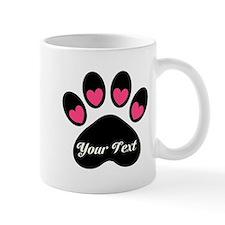 Personalizable Paw Print Mugs
