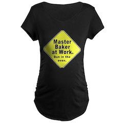 Master Baker- Bun in Oven! Maternity Dark T-Shirt