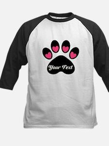 Personalizable Paw Print Baseball Jersey