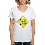 Master Baker- Bun in Oven! Women's V-Neck T-Shirt