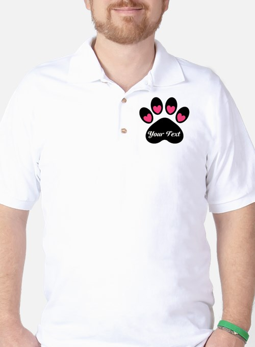 Personalizable Paw Print Golf Shirt