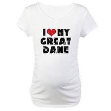 I Heart My Great Dane Shirt