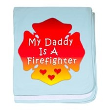 Firefighter Dad baby blanket