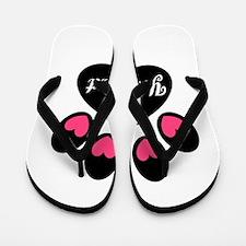 Personalizable Paw Print Pink Flip Flops