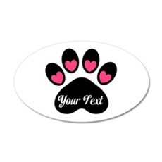 Personalizable Paw Print Pink Wall Decal