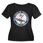 USS JOHN Women's Plus Size Scoop Neck Dark T-Shirt