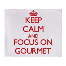 Funny Gourmand Throw Blanket