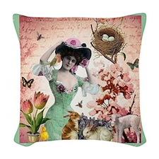 Spring Woven Throw Pillow