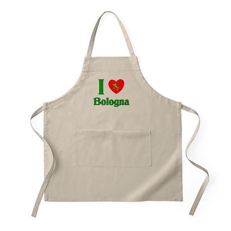 I Love Bologna Italy BBQ Apron