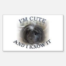 'I'm Cute....' Rectangle Decal