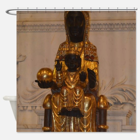Lady of Montserrat Shower Curtain