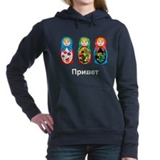 Hello-Goodbye Nesting Doll Women's Hooded Sweatshi