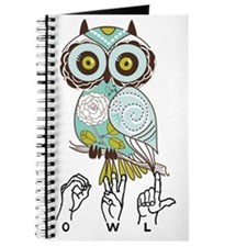 Cute Green owl Journal