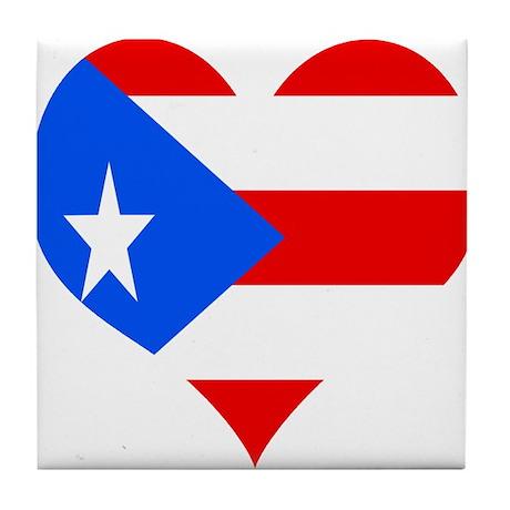 Love 4 Puerto Rico Tile Coaster