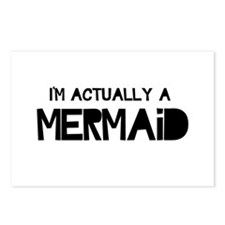 I'm Actually A Mermaid Postcards (Package of 8)
