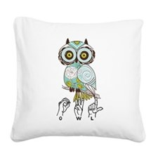 OWL, ASL Square Canvas Pillow