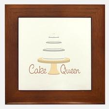Cake Queen Framed Tile