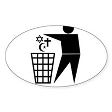 Trash Religion 3 (inverted png) Stickers