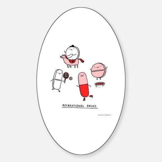 Cute Pharmacist Sticker (Oval)