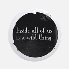 Unique Inspirational sayings Round Ornament