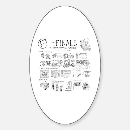 Cute College student Sticker (Oval)