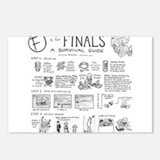 Unique College sayings Postcards (Package of 8)