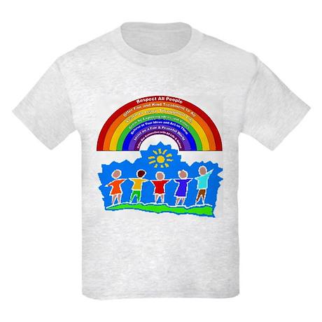Rainbow Principles Kids Kids Light T-Shirt