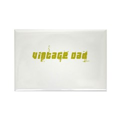 Vintage Dad - Crackled Rectangle Magnet (10 pack)