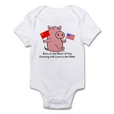BORN IN THE HEART Infant Bodysuit