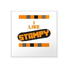 """I Like Stampy Square Sticker 3"""" X 3"""""""