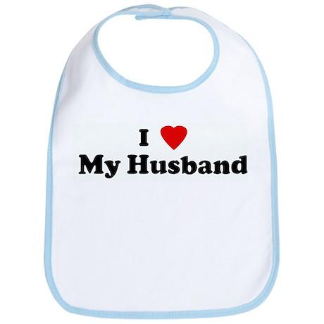 I Love My Husband Bib