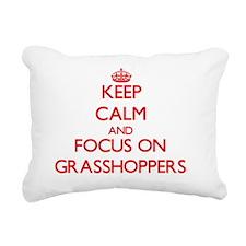 Cute Grasshopper Rectangular Canvas Pillow