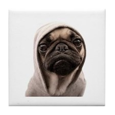 Cute Dog pug Tile Coaster