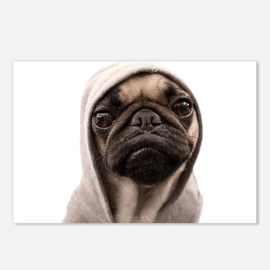 Funny Pugs Postcards (Package of 8)