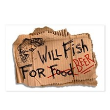 Will Fish for Beer Postcards (Package of 8)