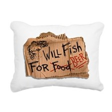 Will Fish for Beer Rectangular Canvas Pillow