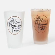 Ring-Tailed Lemur Ssp Logo.png Drinking Glass