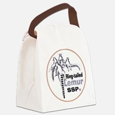 Ring-Tailed Lemur Ssp Logo.png Canvas Lunch Bag