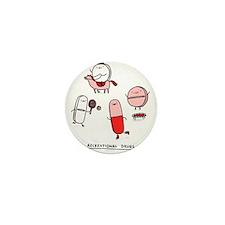 Unique Drugs Mini Button (10 pack)