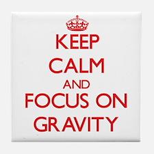 Unique Keep calm and defy gravity Tile Coaster