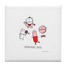Cute Pills Tile Coaster