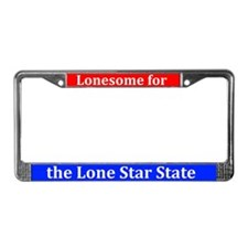 Lonesome 4 The Lone Star State License Plate Frame