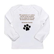 PawPrintGhandi Long Sleeve T-Shirt