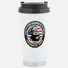 CVN-77 USS George H.W. Travel Mug