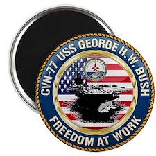 "CVN-77 USS George H.W. Bush 2.25"" Magnet (10 pack)"