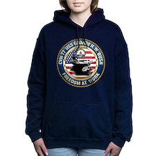 CVN-77 USS George H.W. B Women's Hooded Sweatshirt