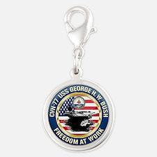CVN-77 USS George H.W. Bush Silver Round Charm