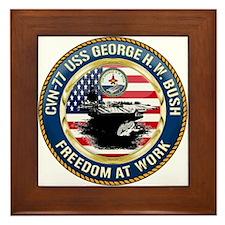 CVN-77 USS George H.W. Bush Framed Tile