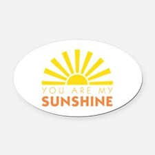 My Sunshine Oval Car Magnet